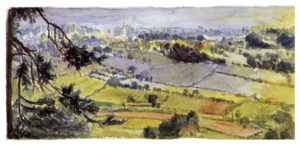 Tolkien, King's Norton from Bilberry Hill - T. Artist & Illustrator, fig. 16