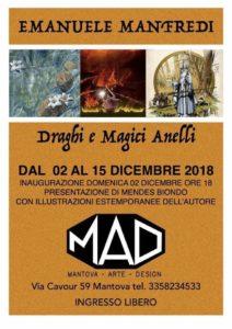 Draghi e Magici Anelli - mostra Emanuele Mandredi - MAD