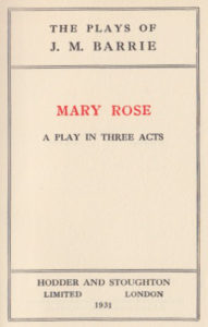 Mary Rose - James M. Barrie
