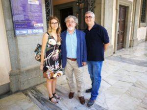 Caterina Agus con Marco e Roberto Arduini