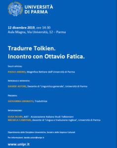 Locandina Ottavio Fatica a Parma