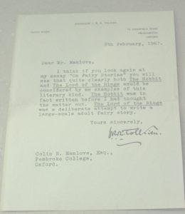 Lettera Colin Manlove