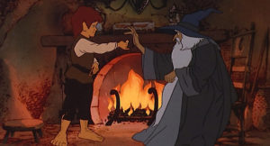 Frodo Hands the Ring to Gandalf