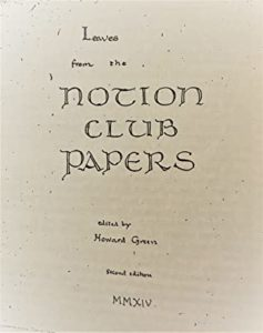 manoscritto Notion Club Papers