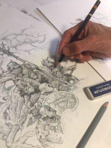 Alvaro Tapia: sketch per The One Ring seconda edizione