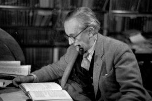 Tolkien writing