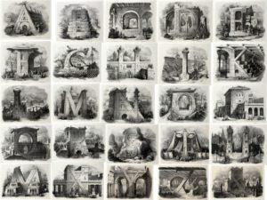 Antonio Basoli Alfabeto Pittorica (1839)