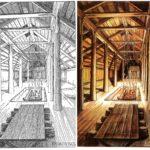 Illustrazione di Tolkien: Beorn's Hall