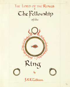Dust jacket design for The Fellowship of the Ring